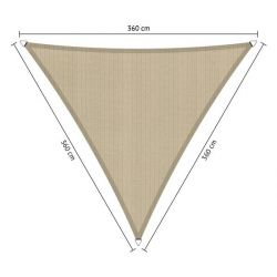 Schaduwdoek Shadow Comfort driehoek 3,60x3,60x3,60 meter, Neutral Sand
