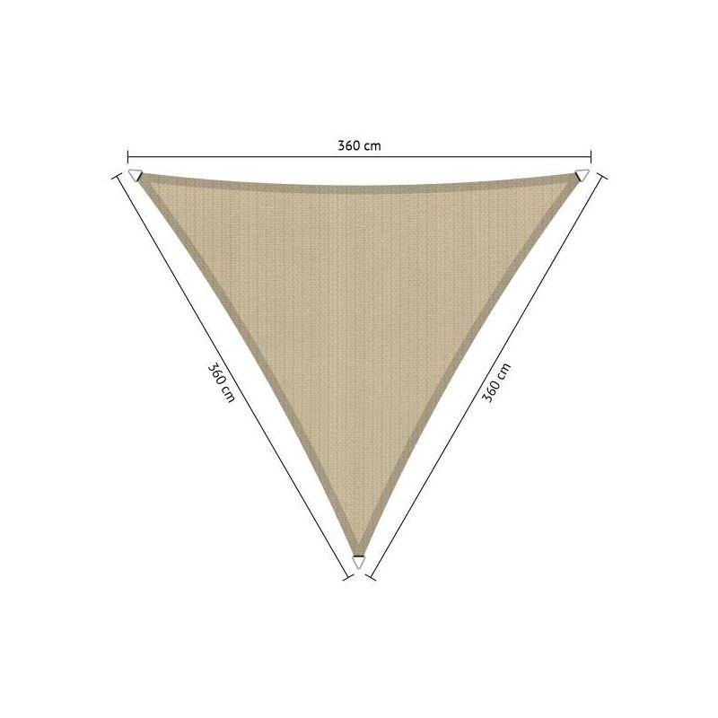 Schaduwdoek Shadow Comfort driehoek 3,60x3,60x3,60 meter, Neutral Sand