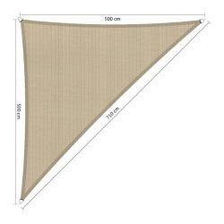 Scahduwdoek driehoek 90° 5x5x7,1 Zand