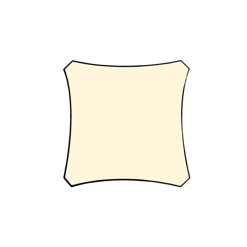 ZONNEZEIL - VIERKANT - 5 x 5 m - KLEUR: CRÈME