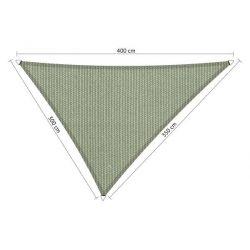 Shadow comfort driehoek Moonstone Green 3x3,5x4m