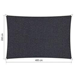 Shadow Comfort rechthoek 2x4m DuoColor Carbon Black