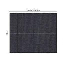 Harmonicadoek Shadow Comfort incl. bevestigingsset DuoColor Carbon Black 2,90x6,00 meter