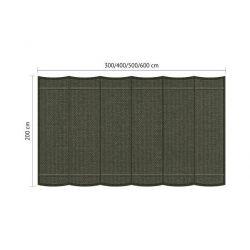 Harmonicadoek Shadow Comfort incl. bevestigingsset Deep Grey 2,00x6,00 meter