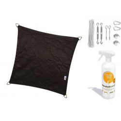 Compleet pakket: Nesling Coolfit 3x5 Zwart met RVS Bevestigingsset en buitendoekreiniger