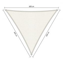 Shadow Comfort driehoek 6x6x6m Arctic White