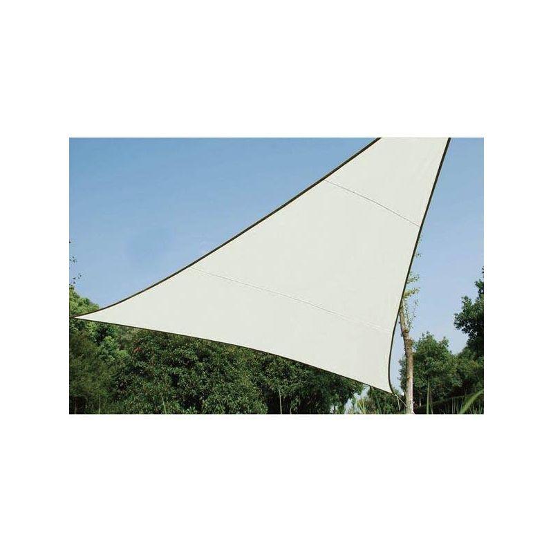 ZONNEZEIL - DRIEHOEK - 5 x 5 x 5 m - KLEUR: CRÈME