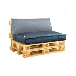 2L Home & Garden Palletkussen Velvet Donkerblauw - 120 x 80cm